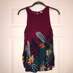 Old Navy Printed Tank EUC